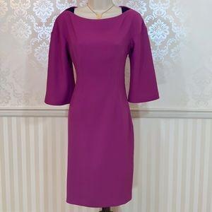 T Tahari Magenta Sheath Dress